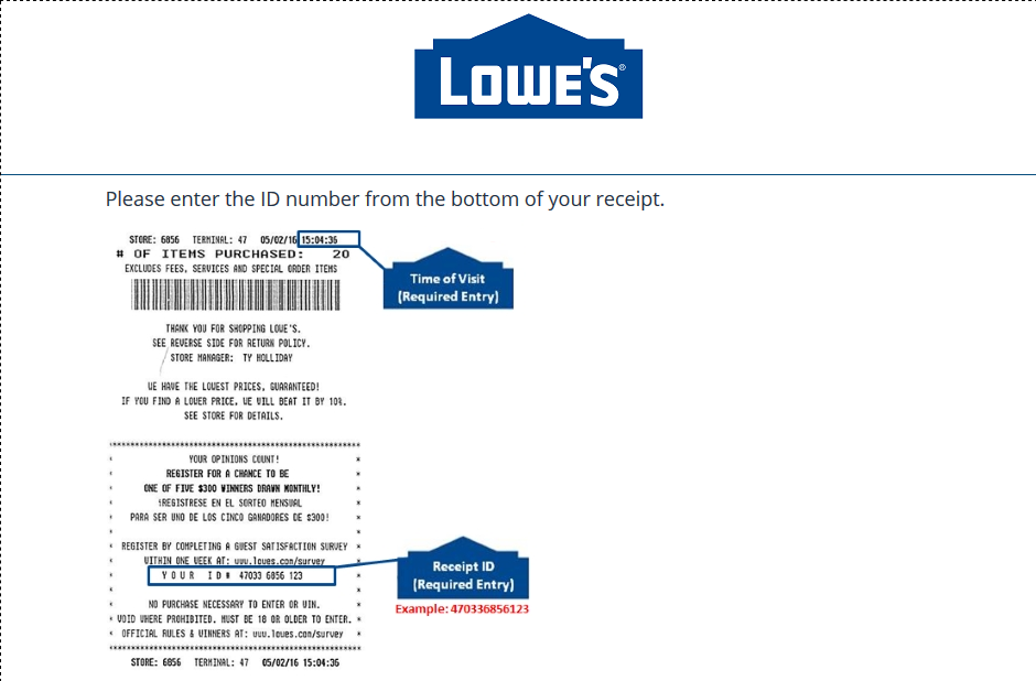 Lowe's Survey and Get a Chance to Win $5000 Gift Card