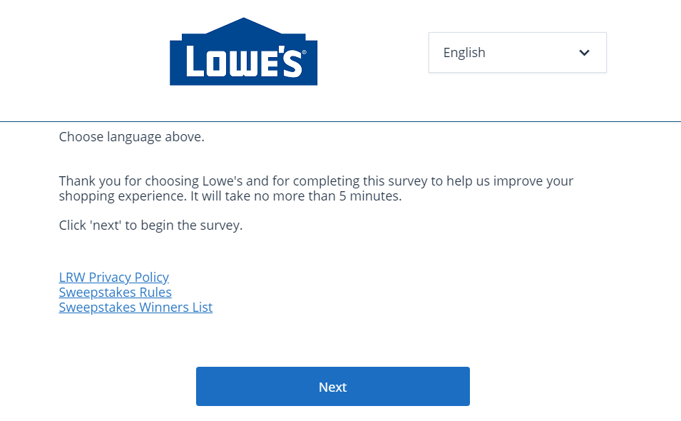 Participate in Lowe's Survey and Get a Chance to Win $5000 Gift Card