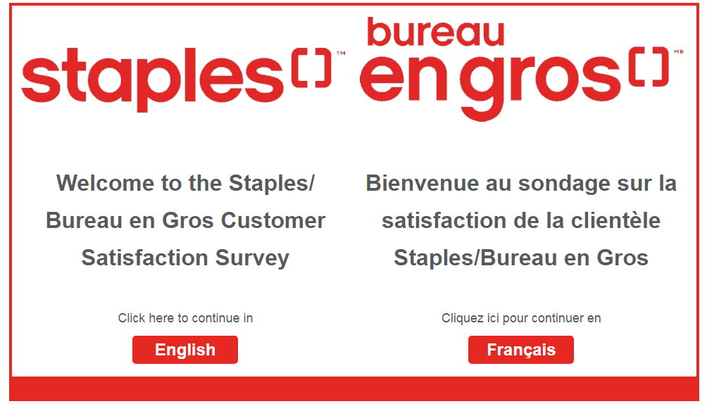 Staples Customer SurveyAnd Win $1,000 Monthly Prizes