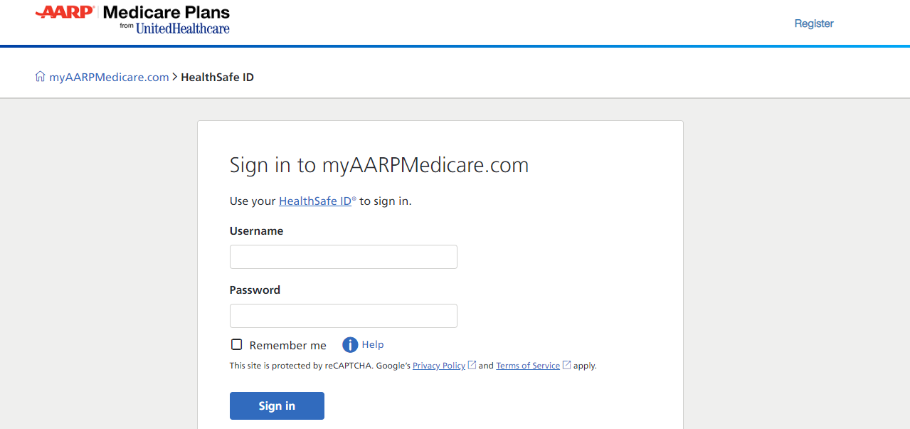 AARP Medicare login