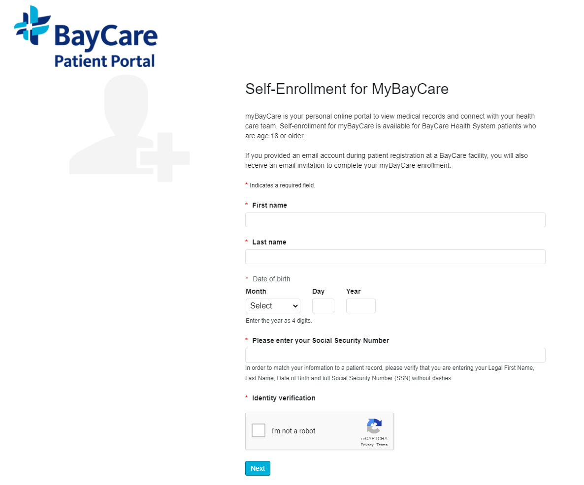 BayCare Patient Enroll