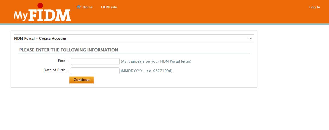 FIDM Student Login
